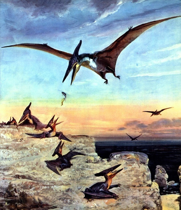 Burian's painting of a Pteranodon used as photographic 'proof' of Billy Meier's time travel.