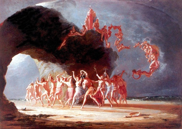 Come Unto These Yellow Sands. Richard Dadd's fairly normal illustration from The Tempest.