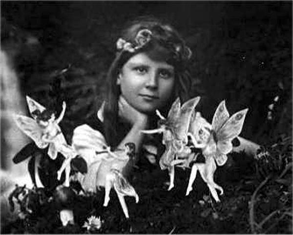 The Cottingley Fairies. Arthur Conan Doyle thought these were real, the muppet!