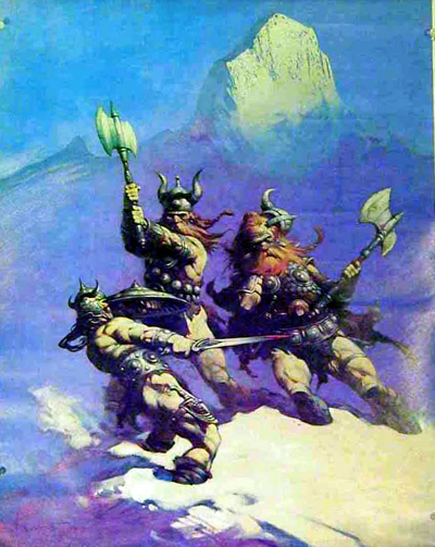 Conan fighting Frost Giants