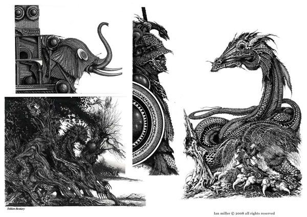 Miller's wonderfully dark take on Lord of the Rings for the Tolkein Bestiary