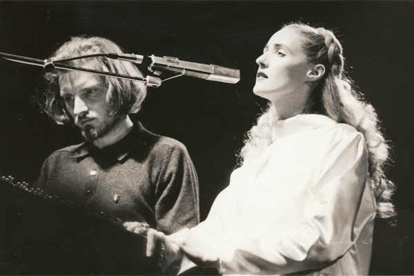 Brendan Perry and Lisa Gerrard from the early days of Dead Can Dance