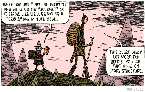 From Tom Gauld - You're All Just Jealous of my Jetpack