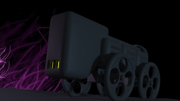 Test render of the strange Expressionist caravan.