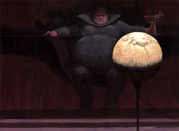 Jack Schoenherr's classic illustration of Baron Harkonnen from The Easton Press Dune