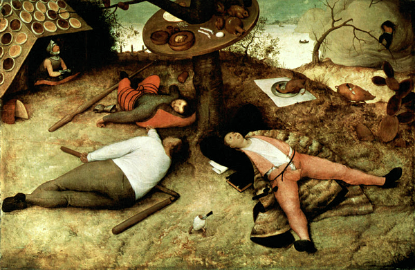 The Land of Cokayne by Pieter Bruegel the Elder