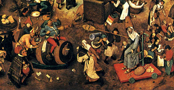 Detail from the Fight Between Carnival and Lent by Pieter Bruegel the Elder