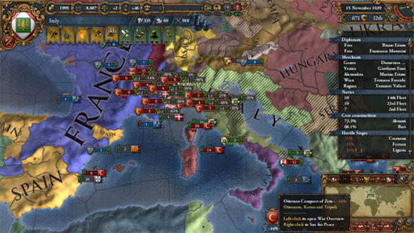 The stunning interface of Europa Universalis.