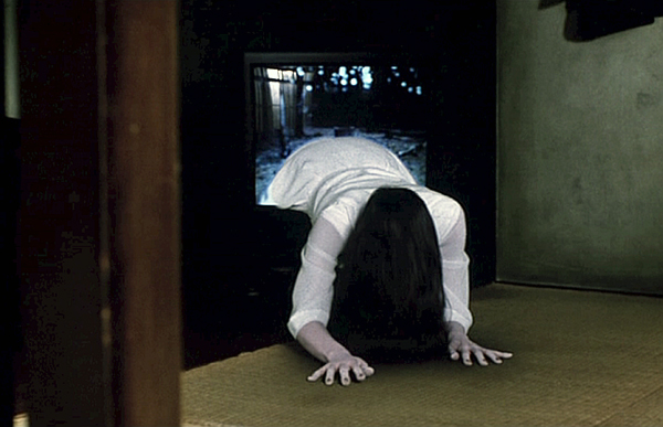 Sadako coming out of the telly