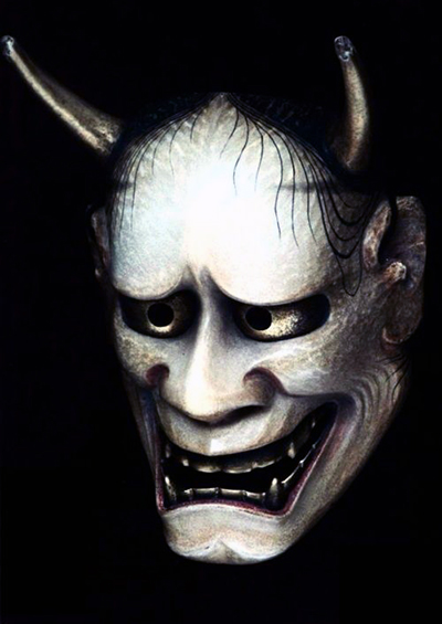The Noh mask Hannya
