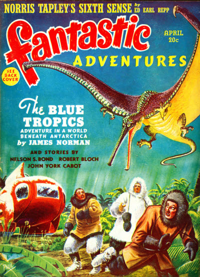 Fantastic Adventures April 1940. Cover by Frank R. Paul.