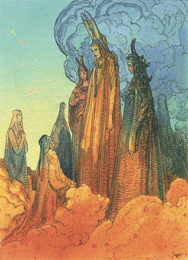 Dante meets Picarda Donati. Moebius.