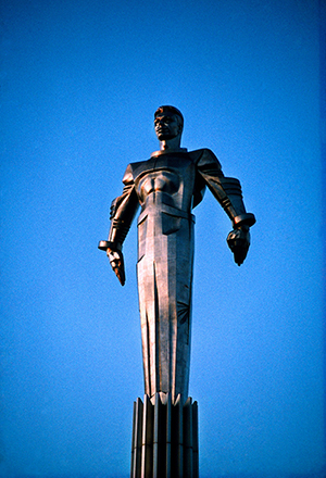 Statue of Cosmonaut Yuri Gagarin (first man in space), Moscow, Russia