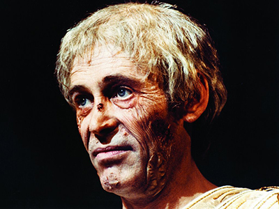 Peter O'Toole, scabbed up and drunk as Tiberius