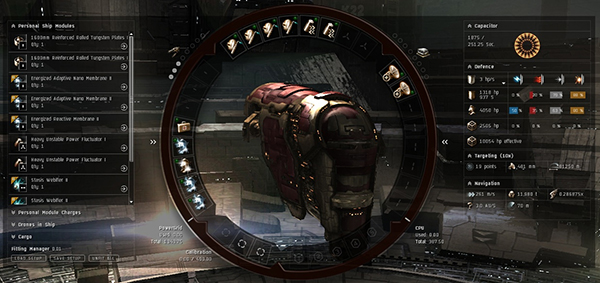 Screenshot from EVE Online showing a docked ship.